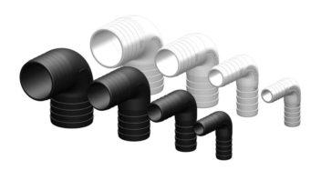 Verbinder, connector 90 graden -19-25-38-50mm